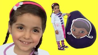 Doc McStuffins Toys Unboxing Surprise Egg, New 2015 ft. Time For Your Checkup Song + Center
