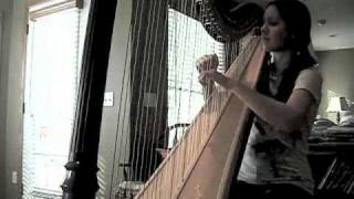 """Fireflies"" by Owl City (Harp cover)"