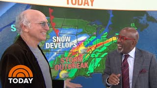 Watch Larry David Do The Weather With Al Roker (And Mock Al's Glasses) | TODAY
