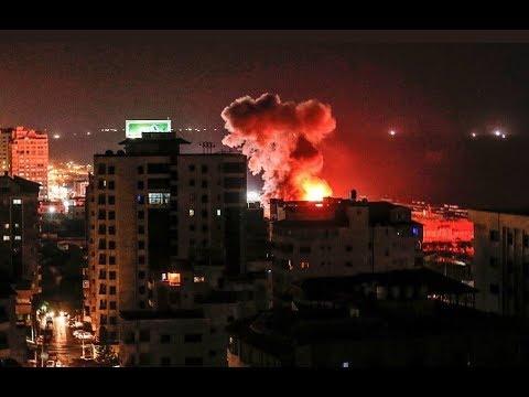 Israel struck a missile strike on the Gaza Strip