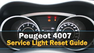 Peugeot 4007 Service Light Reset