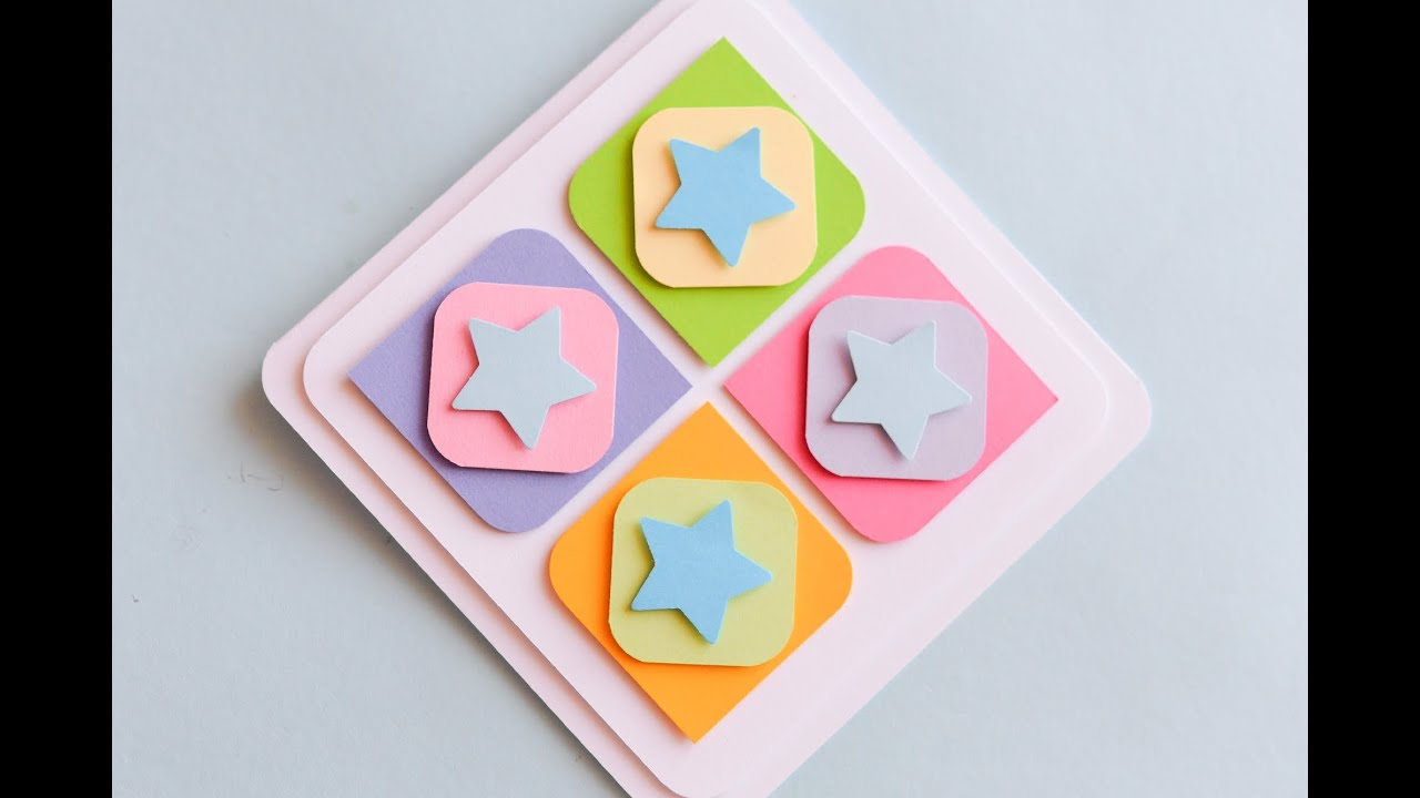 How to make cute greeting card with stars easy step by step how to make cute greeting card with stars easy step by step kartka okolicznociowa m4hsunfo
