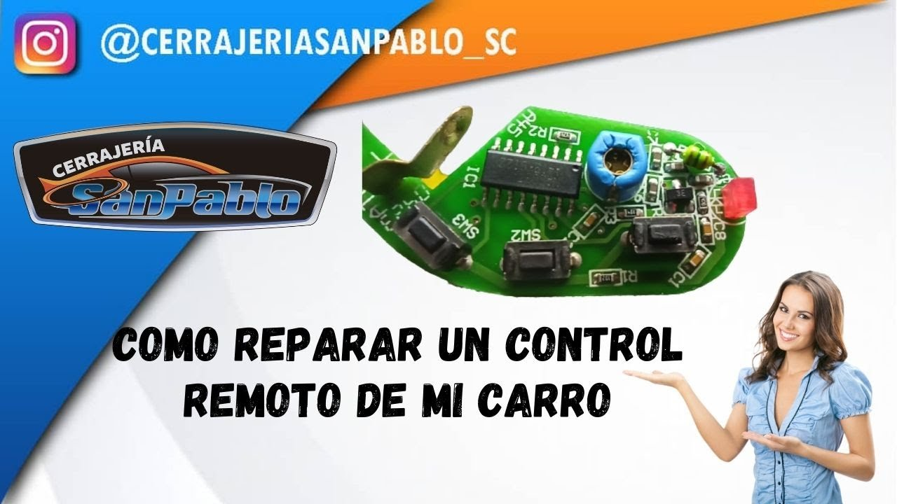 Curso Alarmas Automotriz   Daño en tarjeta Control remoto RKE