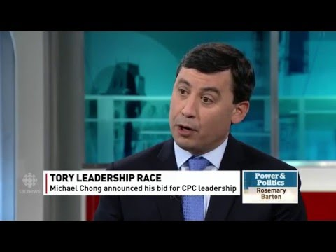 Conservative MP Michael Chong Launches Leadership Bid