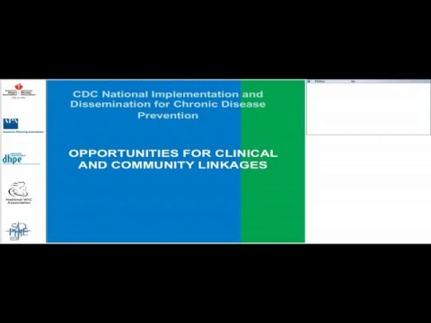 Webinar - Opportunities for Clinical and Community Linkages - Feb 24 2016
