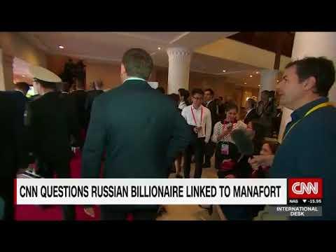 Watch a Manafort-Linked Russian Oligarch Run Away from a  Relentless CNN Reporter