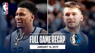 Full Game Recap: Spurs vs Mavericks | Luka Doncic