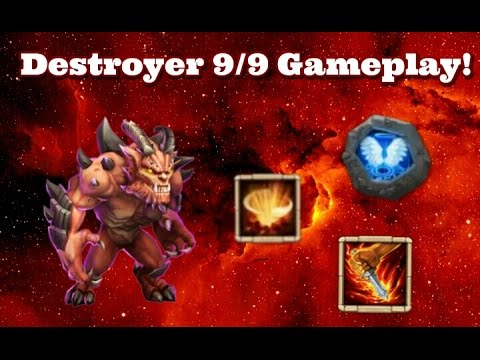 Castle Clash Destroyer 9/9 Gameplay And Thoughts!