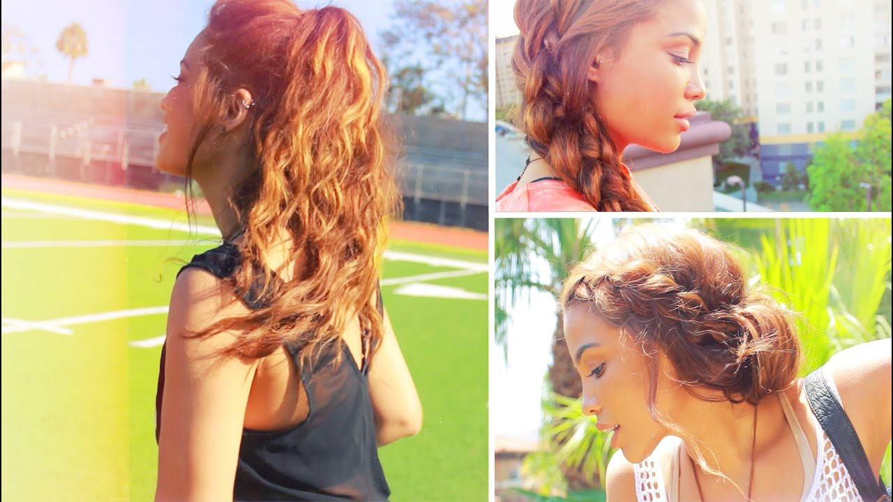 4 Simple Back To School Hairstyles! YouTube