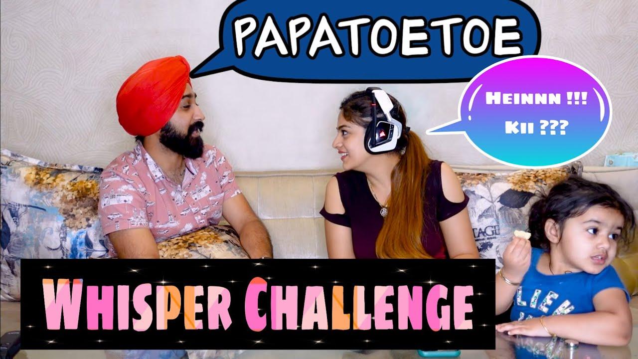 Ravneet karti khajjal   WHISPER CHALLENGE   That Couple Though   Vlog