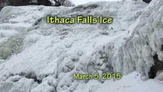 Ithaca Falls Ice! Finger Lakes Park Minute
