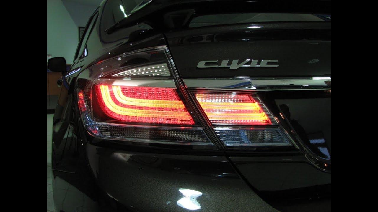 Episode #252 - 2013 Honda Civic Sedan Taillight Upgrade Installation - YouTube