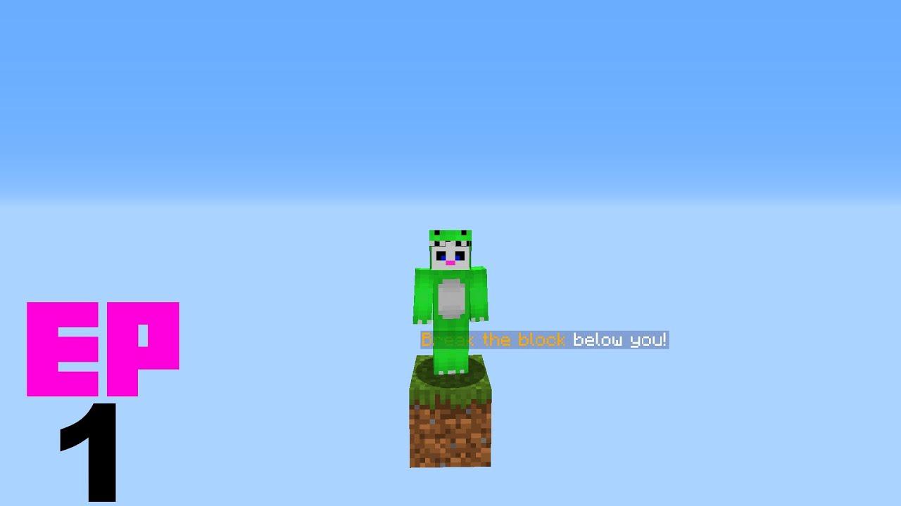Minecraft en 1 bloque - EP1 - De un bloque a un Mundo