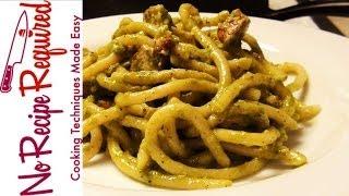 Spaghetti Pesto With Chicken - Noreciperequired.com