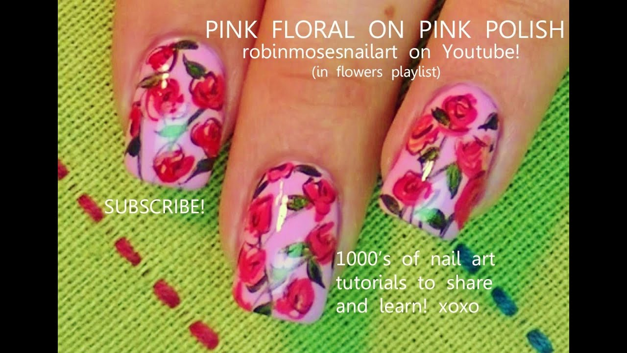 Nail Art Diy Easy Red Rose Nails For Beginners Design Tutorial