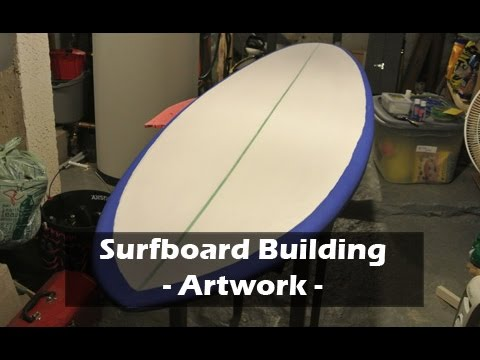 Add Surfboard Artwork: How to Build a Surfboard #20