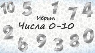 Числа на иврите от 0 до 10. Учим числа на иврите
