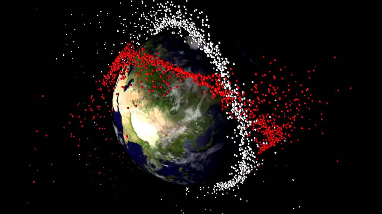 Debris From Satellite Collision Youtube