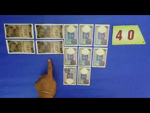 Learn to count from 40 to 49 with the help of currency notes in Punjabi