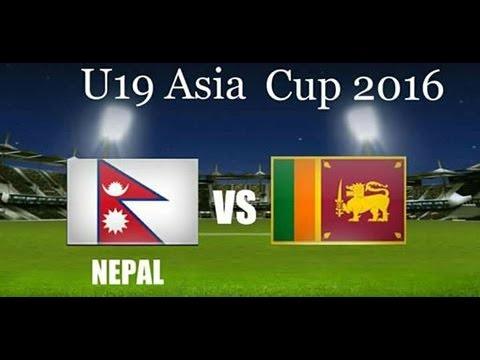 Nepal U19 Vs Sri Lanka U19 ASIAN CRICKET COUNCIL UNDER-19S ASIA CUP