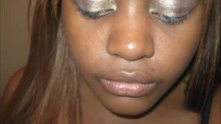 bronze and gold eye shadow night look Thumbnail