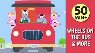Wheels On The Bus & More Rhymes For Kids  |  Rhymes With Lyrics |  Ultra HD 4K Video  |  HOORAY TV