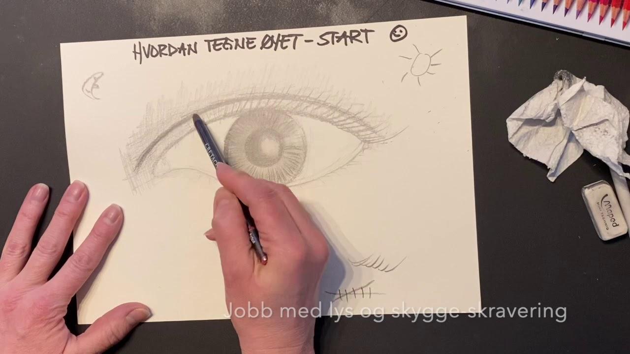 Hvordan starte å tegne øyet