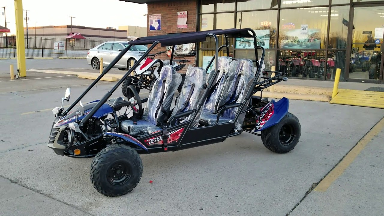 Trail master 150cc x 4 seater go kart review