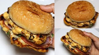 Grilled Chicken Burger, Chicken Burger By Recipes of the World