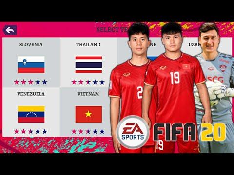 Hướng dẫn tải FIFA 20 MOD có ĐTQG VIỆT NAM 🇻🇳 & các giải vô địch của Châu Á