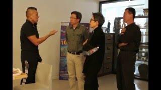 สถาบันไทย-จีน และ Mr. Billy  Wong  เยี่ยมชมคณะศิลปะและการออกแบบ ม. รังสิต วันที่ 28 ม. ค. 59