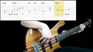 Commodores - Easy (Bass Cover) (Play Along Tabs In Video)