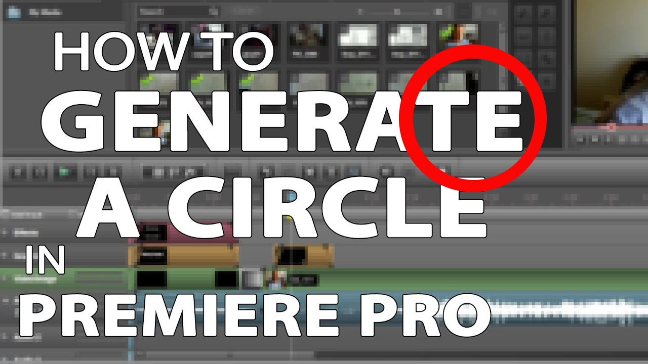 how to draw a circle in premiere