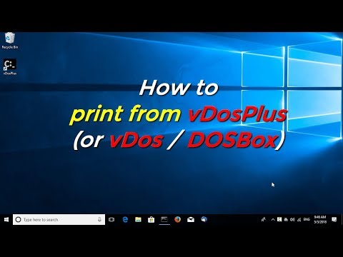 How to print from vDosPlus (or vDos / DOSBox)