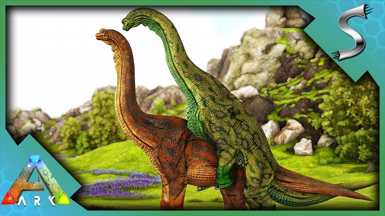 BREAKING A TITANOSAURS BACK WITH MY BRACHIOSAURUS! - Ark: Survival Evolved  [Cluster E105]