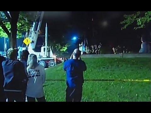 Baltimore quietly relocates 4 Confederate statues overnight