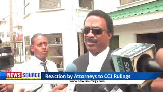 Attorneys react to rulings by Caribbean Court of Justice on No-Confidence and GECOM Chairman matters