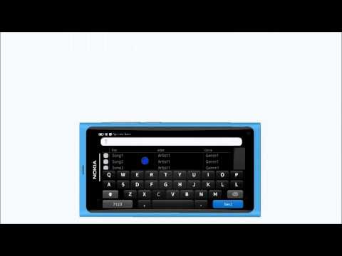 Nokia N9 music player editor