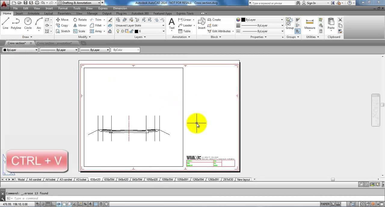 Autocad 2014 copy with basepoint youtube for Copy cad