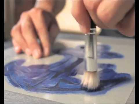 comment customiser votre t-shirt avec setacolor de pebeo - youtube - Comment Fabriquer Un Pochoir Peinture