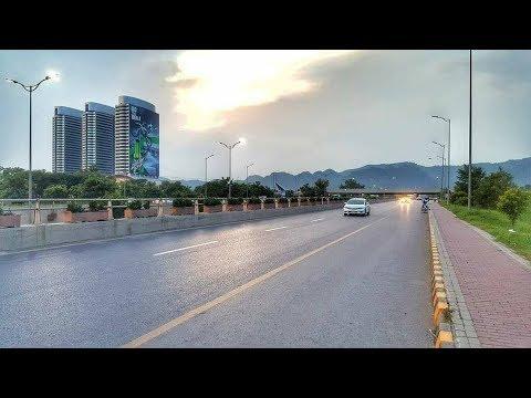 Beautiful Islamabad the Capital City | Islamabad Downtown in Winter 2019 | 4k hd