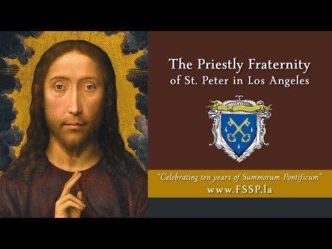 """Celebrating """"Summorum Pontificum"""" • FSSP in Los Angeles"""