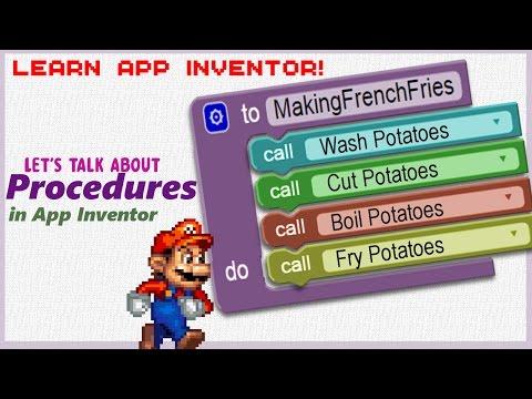 Learn App Inventor: Procedures