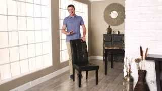 Martha Black Bonded Leather Parsons Dining Chair - Set Of 2 - Product Review Video