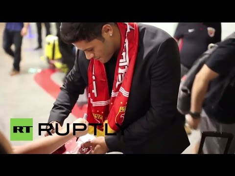 China: Hulk arrives in Shanghai to discuss record-breaking transfer deal