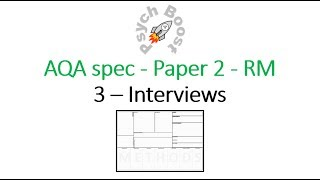 Interview - Research Methods (7.03) Psychology AQA paper 2
