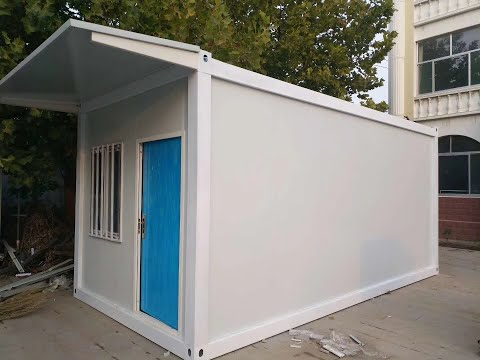 china prefabricated 20ft flat pack container house homes frame office installation video