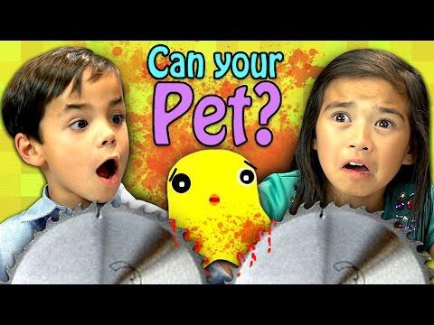 CAN YOUR PET? (Kids React: Gaming)