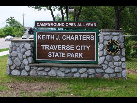Camping at Traverse City State Park, Michigan