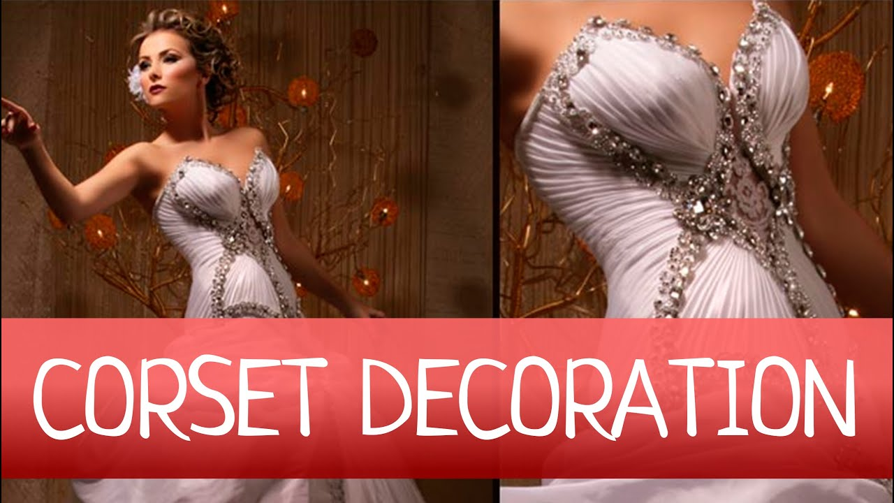 How to EASY decorate WEDDING or EVENING GOWN with DRAPERY Fan folded drapery  YouTube